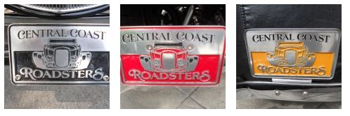central coast roadsters plaques